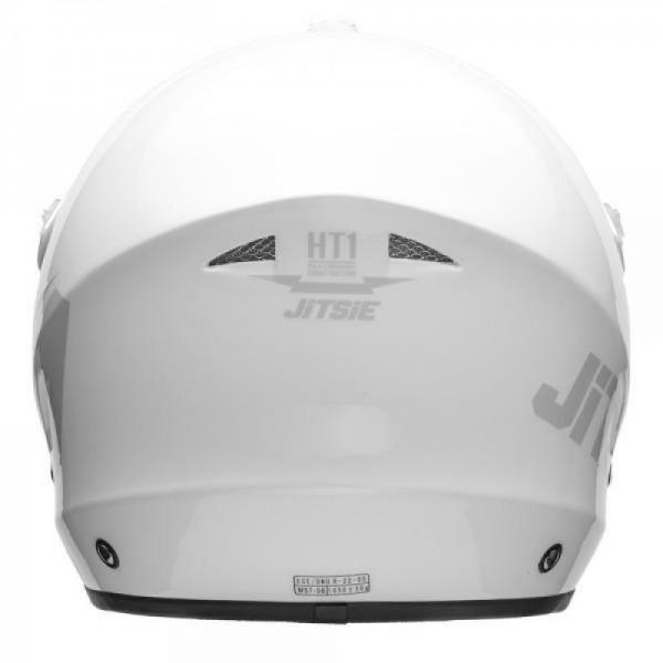 Jitsie Helm HT1 Solid - white/grey