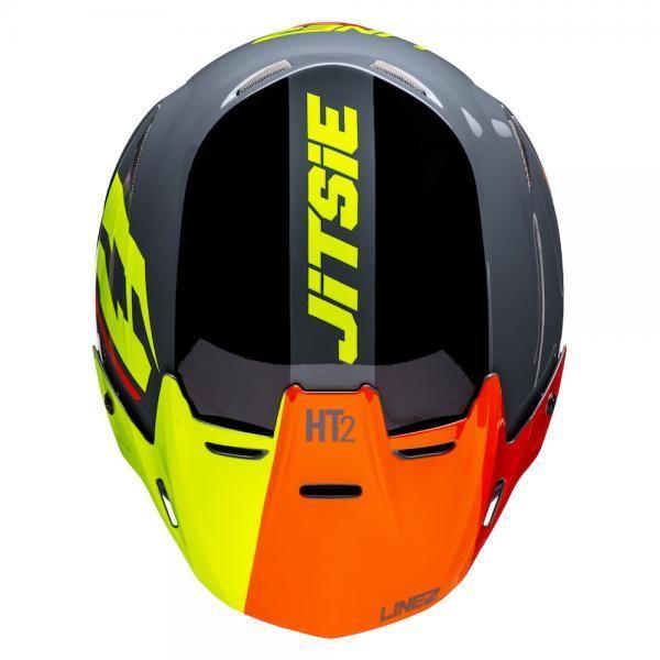 Jitsie Helm HT2 Linez - black/grey/fluo yellow