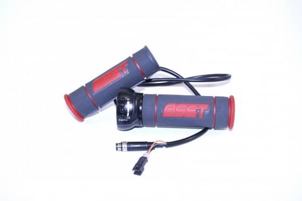 Gasgriff OSET 24V rot schwarz für OSET 12.5R und 12.5E