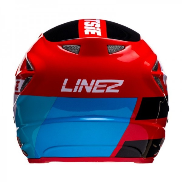 Jitsie Helm HT2 Linez - black/red/blue