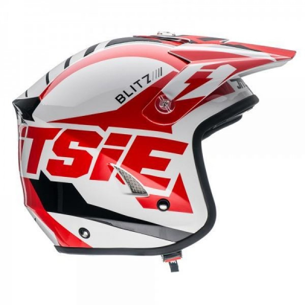 Jitsie Helm HT1 Blitz - white/red