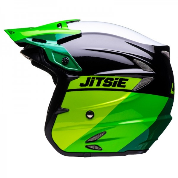 Jitsie Helm HT2 Linez - green/black/white