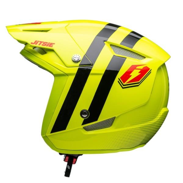 Jitsie Helm HT1 Voita - fluo yellow/black