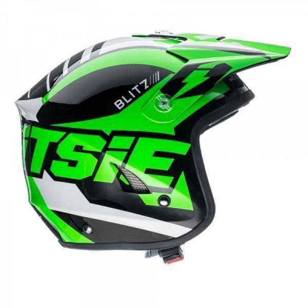 Jitsie Helm HT1 Blitz - black/fluo green