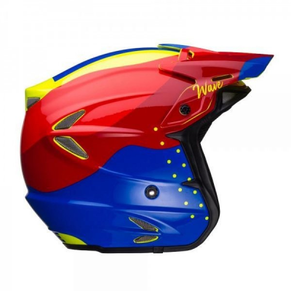 Jitsie Helm HT2 Wave - red/fluo yellow/blue