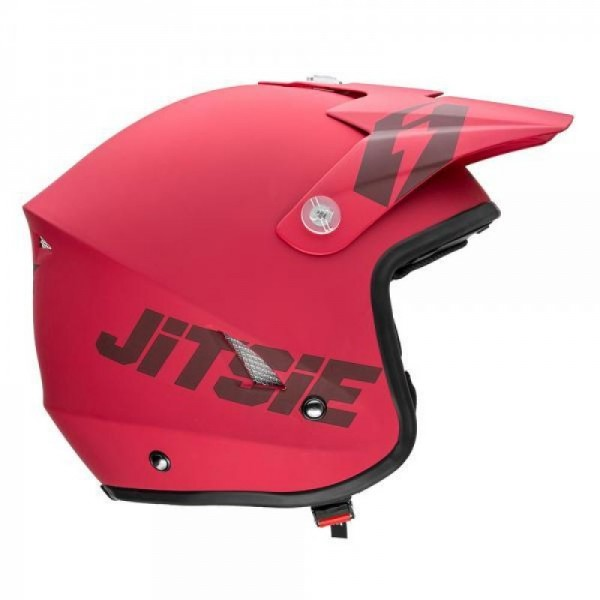 Jitsie Helm HT1 Solid - matt red/black