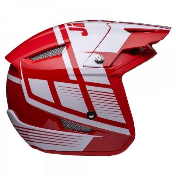 Jitsie Helm HT1 Struktur - red/white