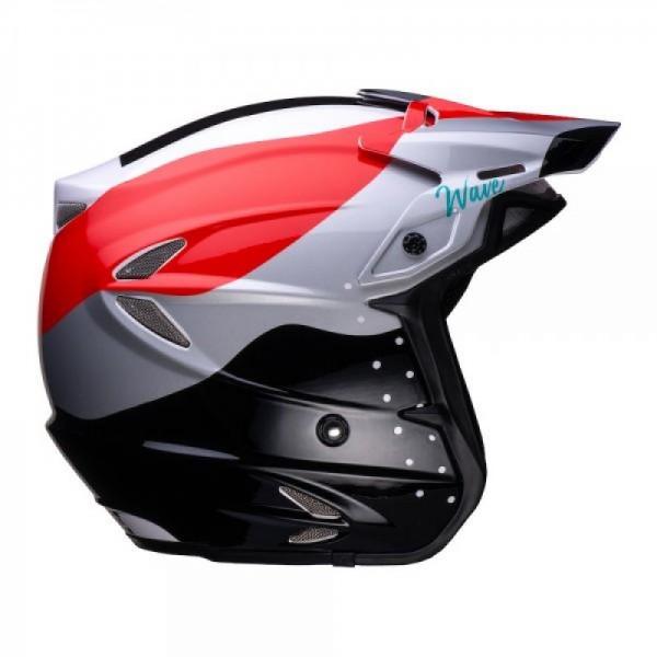 Jitsie Helm HT2 Wave - black/red/white