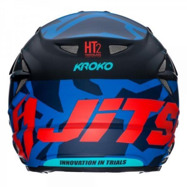 Jitsie Helm HT2 Kroko - blue/red/teal