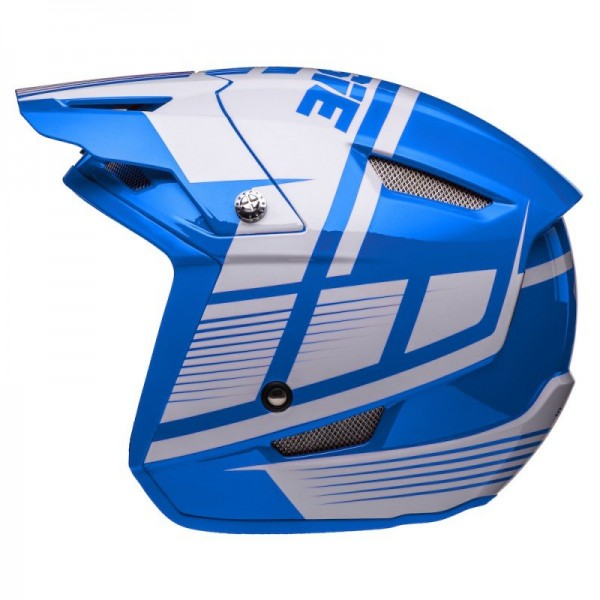 Jitsie Helm HT1 Struktur - blue/white